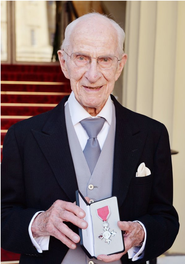 Dr Frankland with his MBE medal