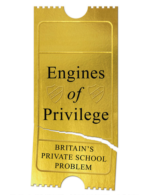 Part of the cover of the book 'Engines of Privilege'