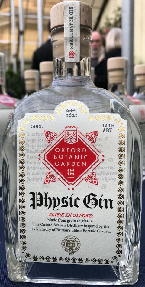A bottle of Physic Gin