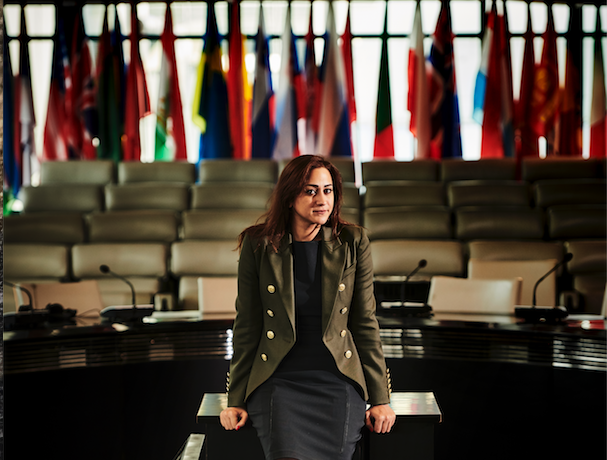 Tara in the boardroom of the European Bank of Reconstruction and Development