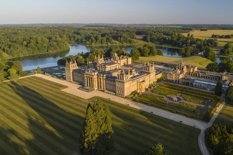 Blenheim Palace South Lawn shown from an aerial shot