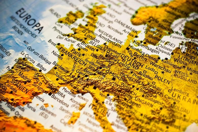 A map of Europe written in German - pixabay