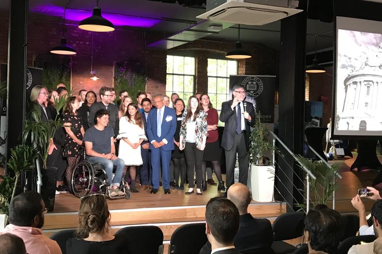 The L.E.V8 venture teams with Biz Stone, Ana Bakshi, Mohamed Amersi and Dean of the Said Business School, Peter Tufano