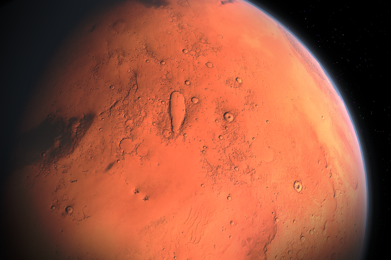A picture of Mars from space