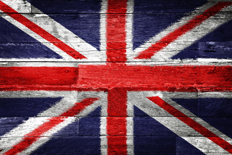 The Union Flag painted on wood