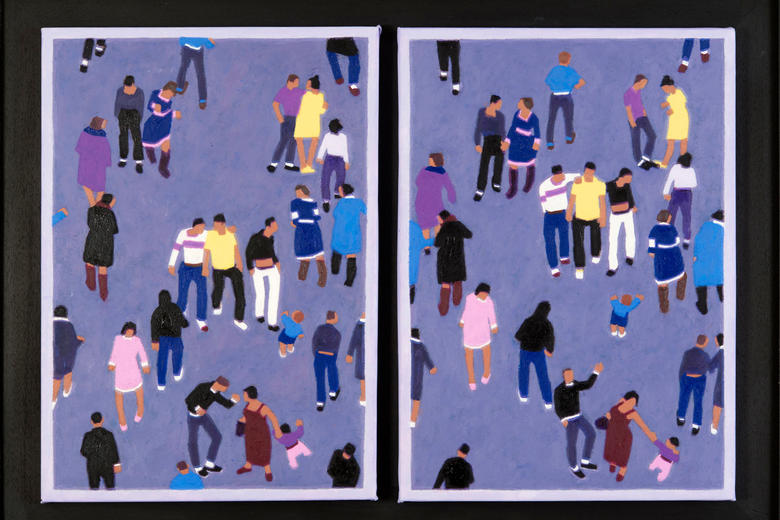 The painting Westgate Diptych  by John Newberry
