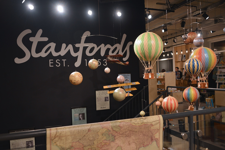 Ground floor of Stanfords London shop