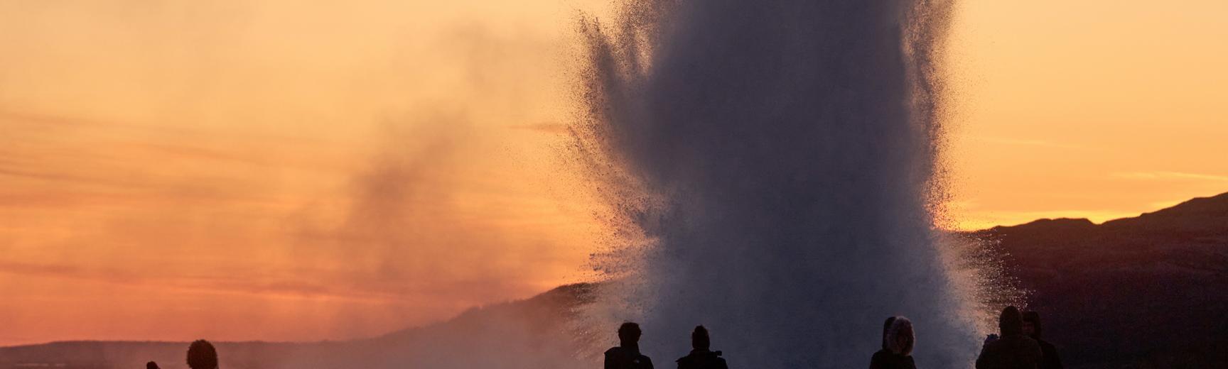 Exploding geyser in Iceland