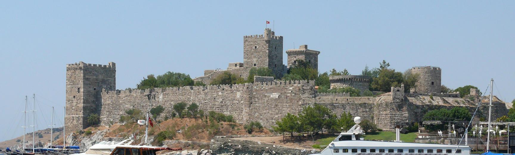 Southeast view of Bodrum Castle in southwest Turkey