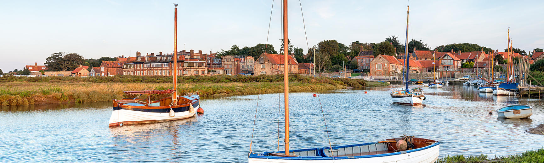 High tide on the salt marshes at Blakeney on the north coast of Norfolk
