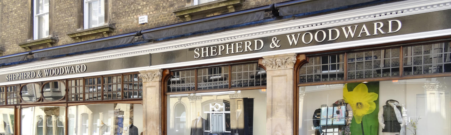 The exterior of the Shepherd and Woodward shop on King Edward's Street