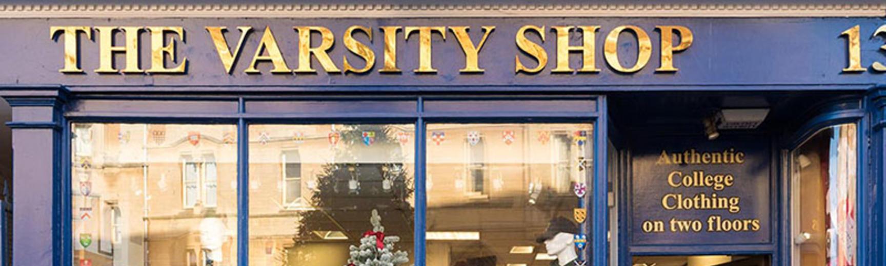 A white Oxford University hoodie