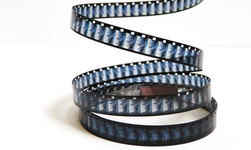 Film reel cascading down