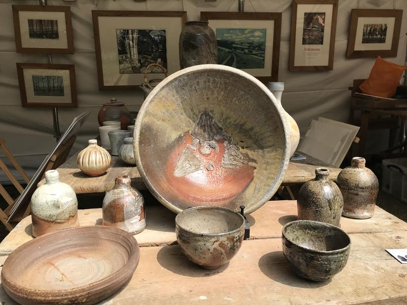 A collection of items which had been fired in the anagama kiln
