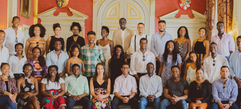 A group picture of the member of the Oxford Black Alumni Network
