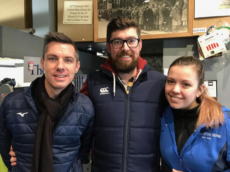 Three staff members of Ember Cotton Sports - Dale Harris, Ben Cook and Steliana Stefanova