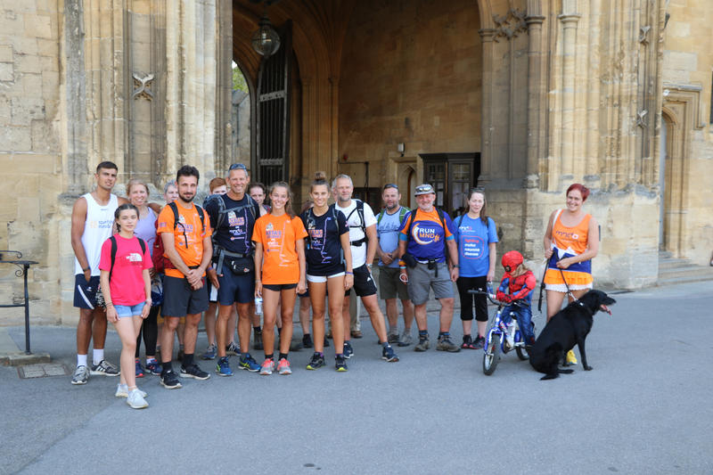 Participants in the walk stood outside Christ Church