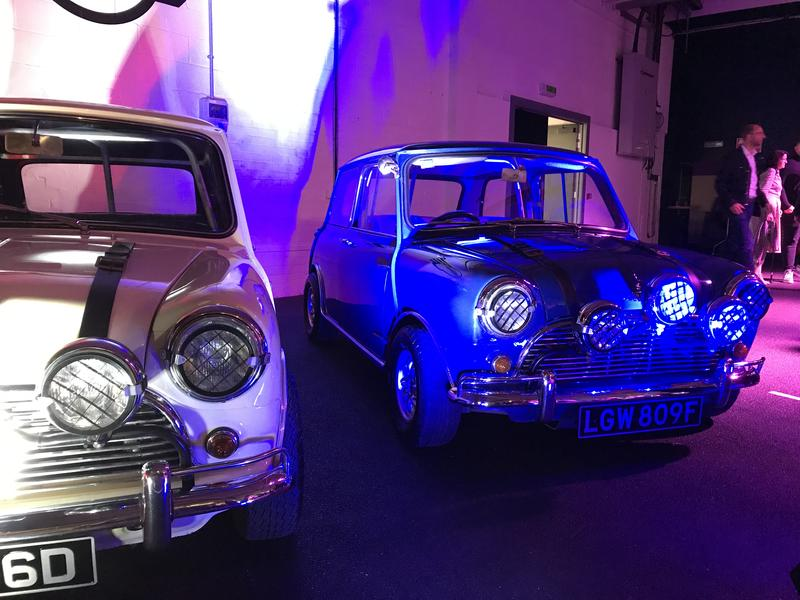 Replicas of the minis used in the film 'The Italian Job'
