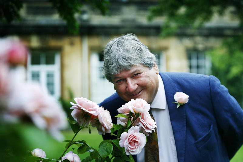 Simon Hiscock, Director of the Botanic Gardens with the new rose