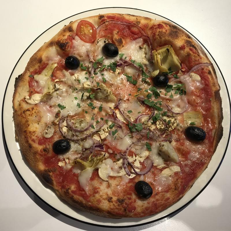 A vegan pizza