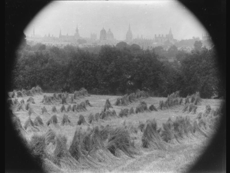 Hayricks outside Oxford, early 20th century