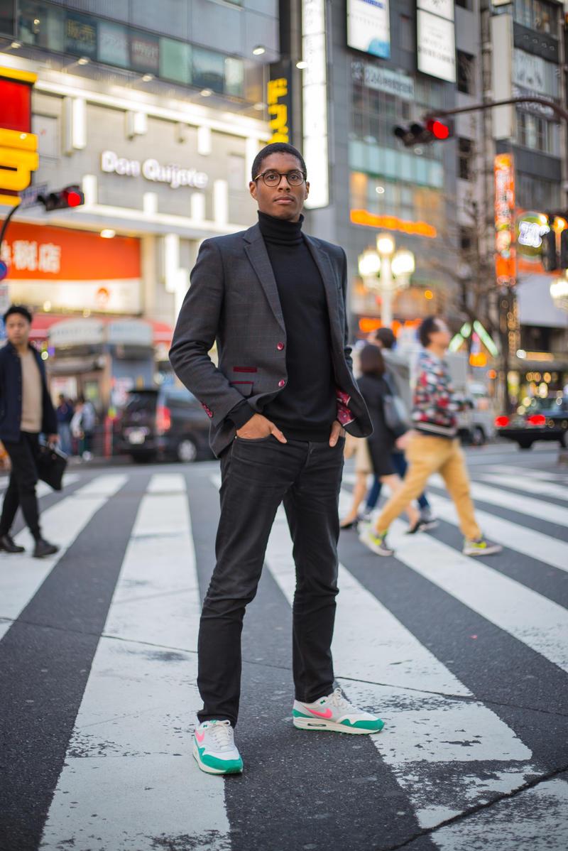 Warren Stanislaus stood on a pedestrian crossing in Tokyo