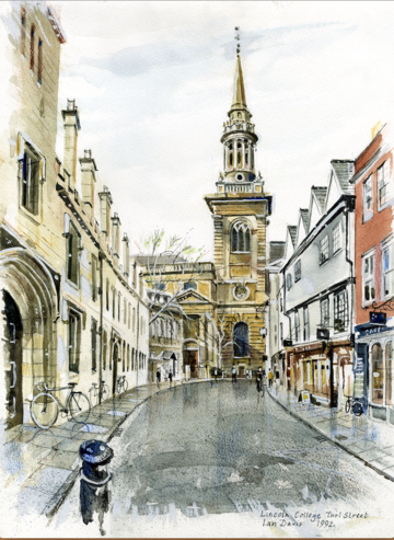 A painting of Turl Street by Ian Davis