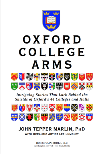 The cover of 'Oxford college arms' by John Tepper Marlin