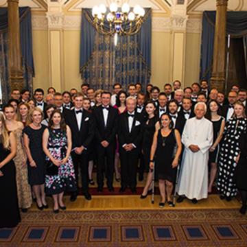 A group picture of the Cambridge-Oxford Alumni Club of Hungary