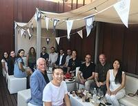 Members of the Oxford Alumni Group  in Spain sat at a table