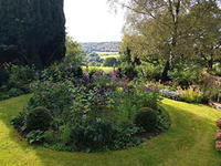 The gardens and view from outside Biddulph Old Hall